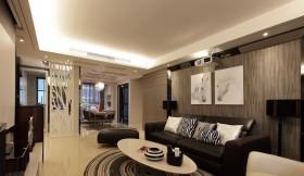 现代简约风格90平米两室两厅装修效果图