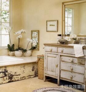复古风格浴室装饰效果图