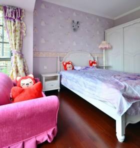 美式风格儿童房女孩儿童房间装修效果图