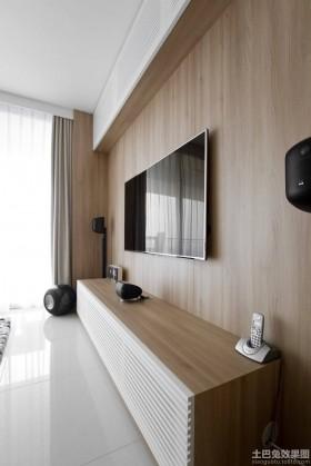简约风格电视柜极简主义实木电视背景墙装修效果图