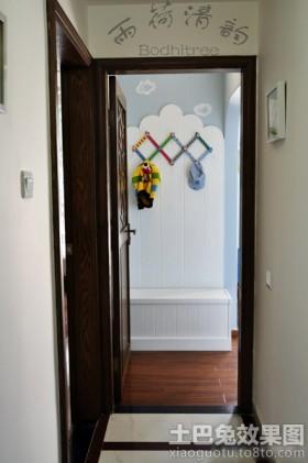 玄关中式进门玄关墙面装饰