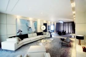 现代简约风格120平米三室两厅装修效果图