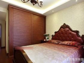 卧室实木壁柜门图片