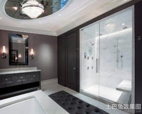 黑白5平卫生间装修效果图片