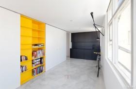极简主义风格两室一厅书架装修效果图