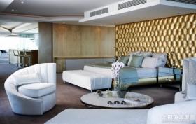 现代简约风格90平米两室两厅装修效果图片