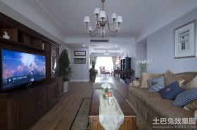 现代美式风格三室两厅装修效果图