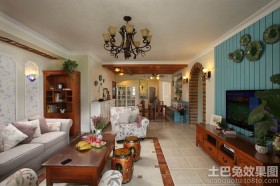 田园风格两室两厅装修效果图欣赏
