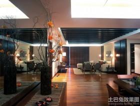 中式风格三室两厅室内镜台装饰