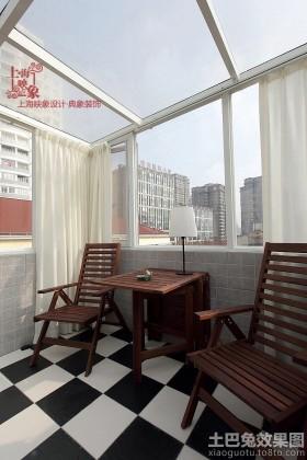 美式风格30平米小户型阳台装修效果图