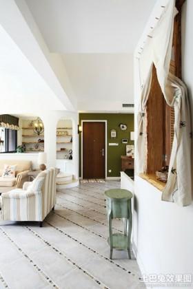 清新田园风格三室两厅装修效果图欣赏