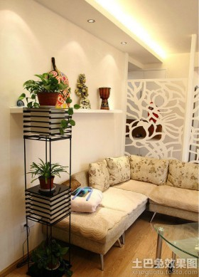 客厅室内花架效果图大全
