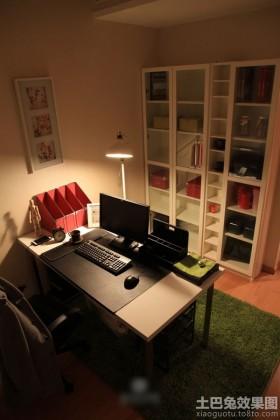混搭风格小户型书房书桌图片效果图