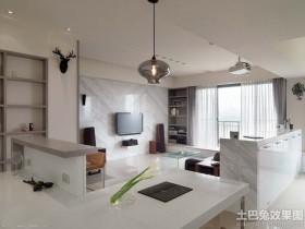 北欧风格装修100平米二居室客厅灯具图片