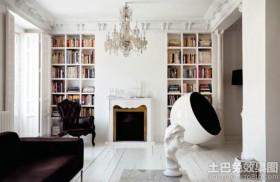 简约风格两室两厅书架装修效果图