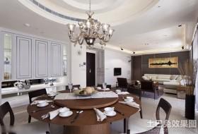 简约三室两厅餐厅水晶吊灯图片