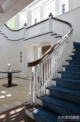 地中海风格别墅楼梯栏杆图片