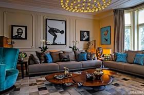 混搭风格两室两厅客厅装修效果图