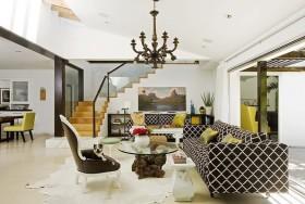 混搭风格家庭客厅装修效果图