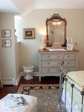 复古风格卧室梳妆台效果图
