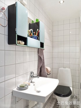 瓷砖卫生间储物柜图片