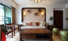 简中式风格两室一厅装修效果图