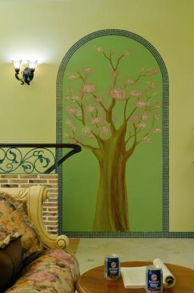 田园风格家庭壁画