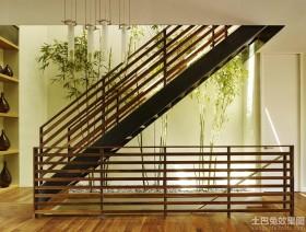 混搭风格两室两厅楼梯装修效果图