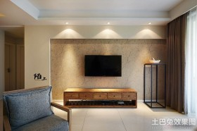 现代风格二居客厅背景墙设计