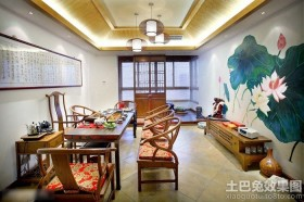 中式风格二居室家具布置图片