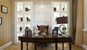 新古典风格书房工作书桌图片