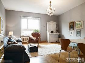 田园风格二居室客厅家具布置效果图