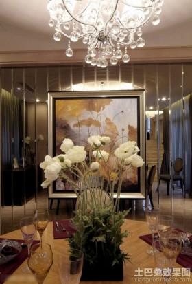 现代风格二居室餐桌装饰图片欣赏