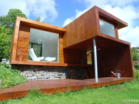 现代木别墅设计图片