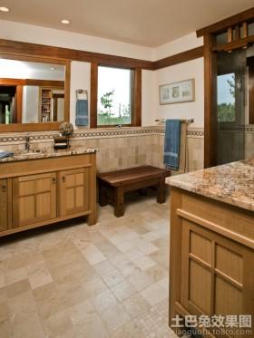 实木中式浴室柜效果图