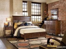 美式复古风格装修效果图卧室