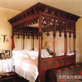 东南亚复古风格装修效果图卧室