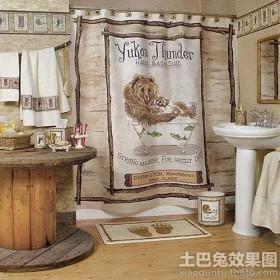 复古风格浴室装饰画