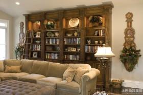 古典风格家用书柜图片