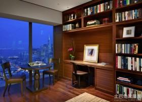 现代家装实木家用书柜