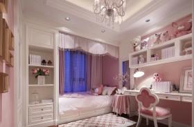 温馨舒适粉色女儿童房装修效果图