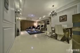 时尚家装120平米三室一厅装修效果图