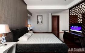 中式两室两厅卧室装修效果图