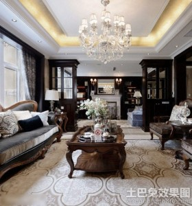 新古典二居室客厅图片大全