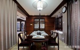 中式两室两厅餐厅装修效果图