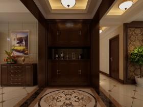 古典欧式三居室家庭室内过道装修