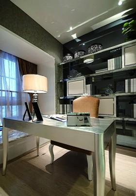 后现代装修风格100平米二居室书房书桌效果图