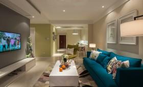 混搭风格两房两厅简装客厅效果图片欣赏
