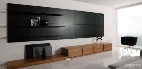 简单客厅组合柜效果图