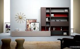宜家客厅组合柜效果图